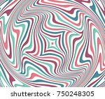 optical illusion  abstract... | Shutterstock .eps vector #750248305