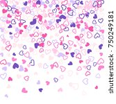 colorful background with heart... | Shutterstock .eps vector #750249181