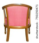 back view of fabric chair... | Shutterstock . vector #750250471