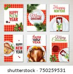 six colored vertical realistic... | Shutterstock .eps vector #750259531