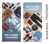 two colored men accessories...   Shutterstock .eps vector #750259609