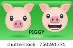 Animoji Pig  Two Facial...