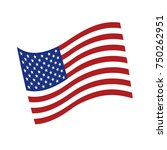 grunge american flag.vector... | Shutterstock .eps vector #750262951