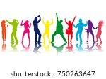 poeple dancing  vector... | Shutterstock .eps vector #750263647