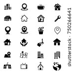 real estate icons set | Shutterstock .eps vector #750266641