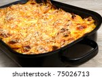 scalloped potatoes in the pan   Shutterstock . vector #75026713