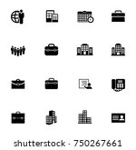 office icons set | Shutterstock .eps vector #750267661