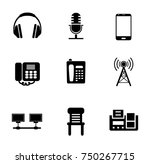 phone icons set | Shutterstock .eps vector #750267715