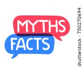 myths  facts. vector hand drawn ... | Shutterstock .eps vector #750270694