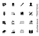 education icons set | Shutterstock .eps vector #750273241