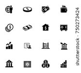financial icons set | Shutterstock .eps vector #750273424