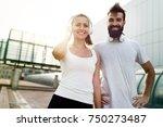 portrait of young attractive... | Shutterstock . vector #750273487