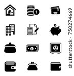 banking icons set | Shutterstock .eps vector #750274669