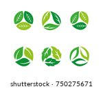 recycle   leafs  plant  tree... | Shutterstock .eps vector #750275671