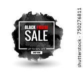 black friday sale  web banner.... | Shutterstock .eps vector #750276811