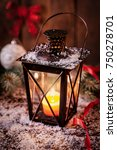 christmas lantern | Shutterstock . vector #750278701