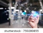 human resource management  hr ... | Shutterstock . vector #750280855