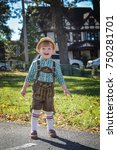 young toddler boy dressed up in ... | Shutterstock . vector #750281701