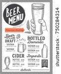 beer drink menu for restaurant... | Shutterstock .eps vector #750284314