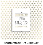 christmas background with... | Shutterstock .eps vector #750286039