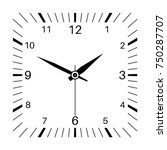 clock. square shaped clock.... | Shutterstock .eps vector #750287707