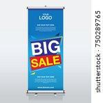 roll up brochure banner design... | Shutterstock .eps vector #750289765