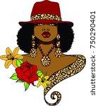Beautiful Black Woman With...