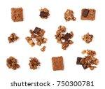 set crunchy granola  muesli... | Shutterstock . vector #750300781