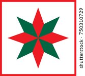vector red and green star  ... | Shutterstock .eps vector #750310729