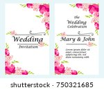 vector illustration wedding... | Shutterstock .eps vector #750321685