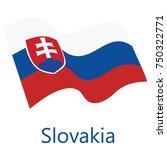vector illustration waving flag ... | Shutterstock .eps vector #750322771