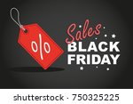 red label or tag with black... | Shutterstock .eps vector #750325225