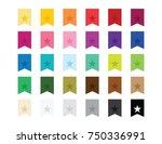 star flag ribbon bookmark... | Shutterstock .eps vector #750336991
