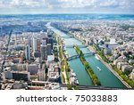 view from eiffel tower at isle... | Shutterstock . vector #75033883