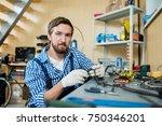 self employed repairman in... | Shutterstock . vector #750346201