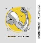 creative modern classical... | Shutterstock .eps vector #750348361
