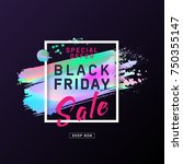 black friday sale poster with... | Shutterstock .eps vector #750355147