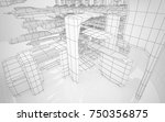 abstract drawing white interior ... | Shutterstock . vector #750356875