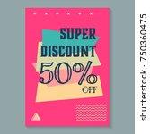 modern colorful poster  banner  ... | Shutterstock .eps vector #750360475