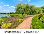 View of Chicago Botanic Garden, Illinois, USA
