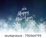 happy new year 2018 banner....   Shutterstock .eps vector #750364795