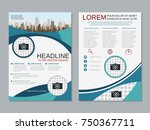 modern business two sided flyer ... | Shutterstock .eps vector #750367711