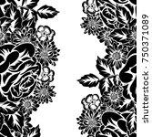 seamless monochrome pattern of... | Shutterstock .eps vector #750371089