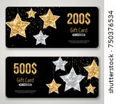 Gift Card Design With Gold...