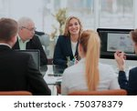 business people team teamwork... | Shutterstock . vector #750378379