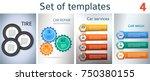 set car service business... | Shutterstock .eps vector #750380155