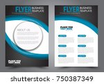 black and blue flyer template... | Shutterstock .eps vector #750387349
