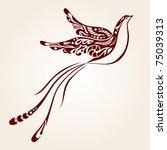 decorative bird | Shutterstock .eps vector #75039313