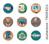 flat  icons vector collection... | Shutterstock .eps vector #750393211