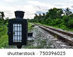 Old Railway Signal Lamp For Th...
